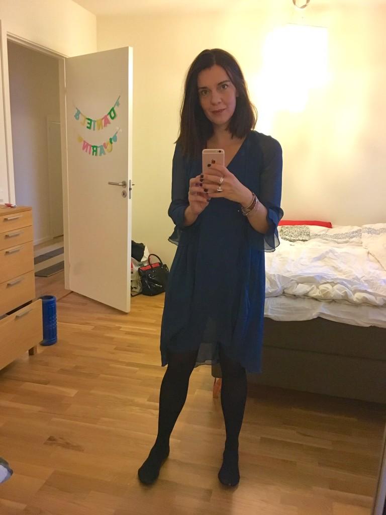 Jag igår, fick användning för den fina klänning jag panik köpte i Jönköping somras när jag glömt väskan hemma